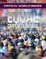 Equal Opportunities (Critical World Issues)